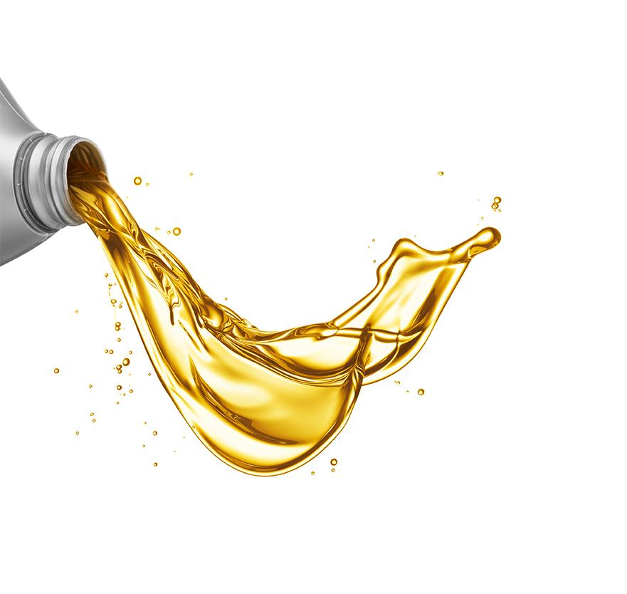 Auslaufendes Motoröl
